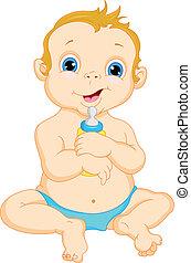 cute baby boy cartoon illustration