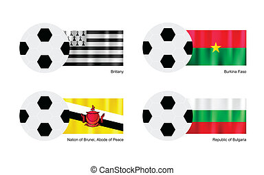 Football with Brittany, Burkina Faso, Brunei and Bulgaria...