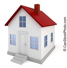 House model. 3d illustration on white background