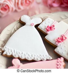 Wedding cookies - Cookies decorated for a wedding