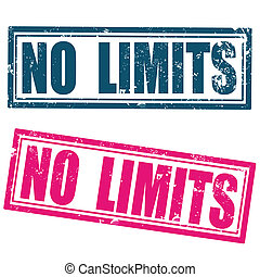 no limits grunge stamp on whit vector illustration