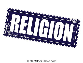 religion grunge stamp on whit vector illustration