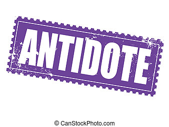 antidote grunge stamp on whit vector illustration