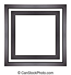 Picture Frames - Black picture frames isolated