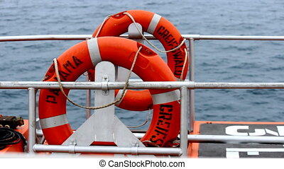 ferry lifebuoy - lifebuoys on ship
