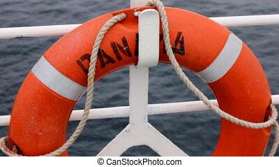 panama lifebuoy - lifebuoy on ship