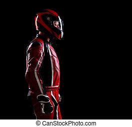Motociclista,  silhouette, basso, chiave
