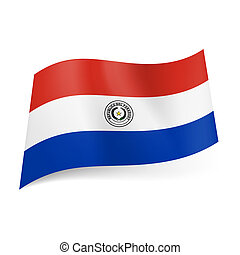 State flag of Paraguay - National flag of Paraguay: red,...