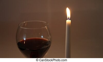 Wine and a candle lit diner