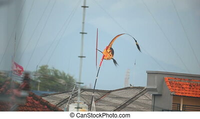 Traditional Balinese weathervane. HD1080