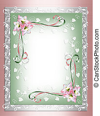 AmaryllisShabby pink flower Border - Image and illustration...
