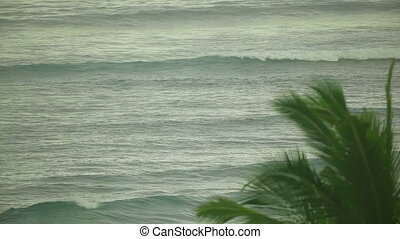 Indian Ocean waves. Telephoto lens. HD1080 - 25p