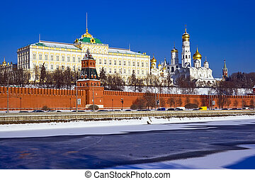 Moscow Kremlin - Famous Moscow Kremlin with its beautiful...