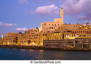 Jaffa port. - Beautiful photos of the evening Jaffa from the...