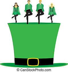 Irish step dance on the hat