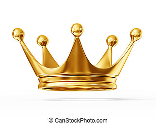 crown - golden crown isolated on a white background