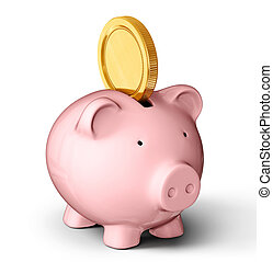 piggy bank isolated on a white background