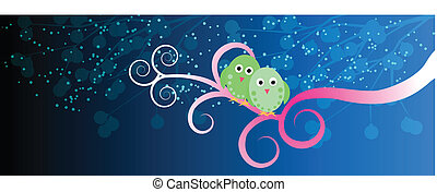 Lovebirds - facebook timeline - Two lovebirds on the tree...