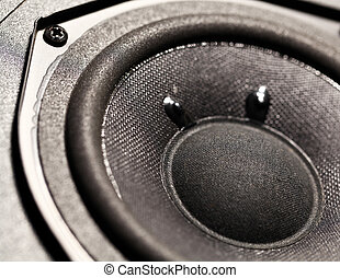 Woofer - Close up of a Audio Woofer