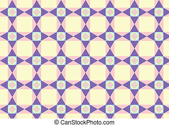 Triangle Circle and Quadrate Pattern on Pastel Color -...