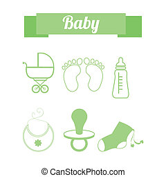 baby design over white   background vector illustration