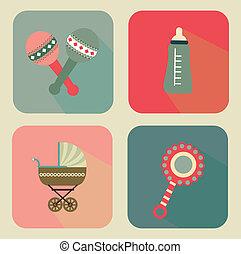 baby design - baby design over beige background vector...