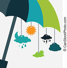 Weather design - weather design over white background vector...