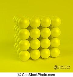 3D vector illustration.