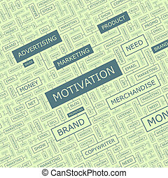 MOTIVATION Word cloud illustration Tag cloud concept collage...