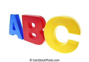 ABC Alphabets on Isolated White Background