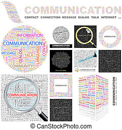 Communication. Concept illustration. - Communication. Word...