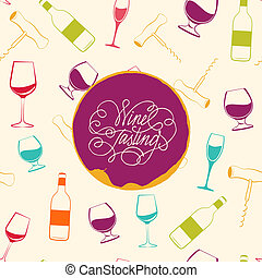Red wine drops over text paper background. Vector...