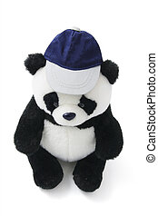 Soft Toy Panda Wearing Cap