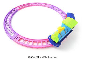 Toy Train on RailwayTrack