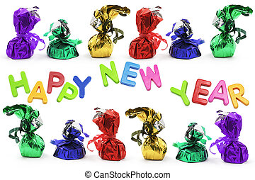 Chocolate Lollies with New Year Greetings
