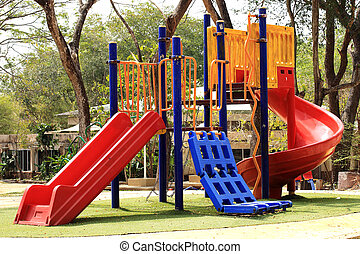 empty slider playground - Colorful slider play ground at the...