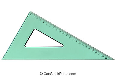 Set square triangle used in engineering and technical...