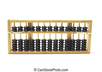 Chinese Abacus on Isolated White Background