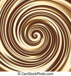 Chocolate or coffee milk cocktail spiral texture - Creamy...
