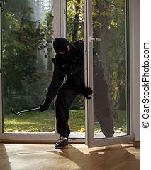 robo fractura, hogar, suburbios
