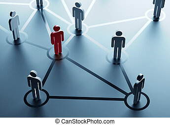 social network - group of people talking in the social...