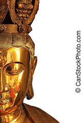Bouddha, moitié,  closeup, figure