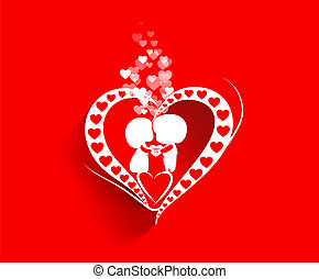 Valentine day background with heart