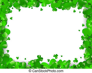 Saint Patrick Day Abstract Green Clover Frame With Copyspace