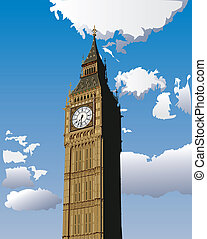 Big Ben - Illustration of Big Ben, one of the most popular...