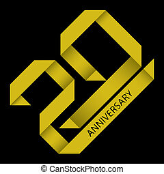 20 years anniversary vector - The abstract of 20 years...