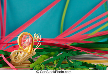 Quilling - Souvenir from the color paper, made by the hands