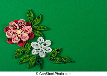 Quilling - Souvenir from the color paper, made by the hands.