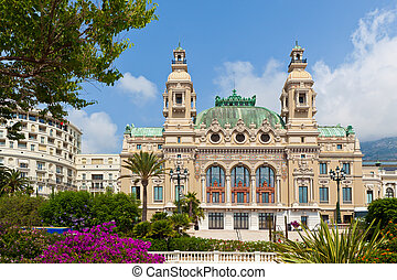 Casino and Opera house in Monte Carlo. - Salle Garnie -...