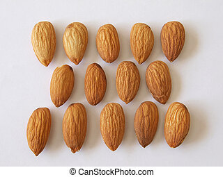 Almond nuts - Close-up of almond nuts, one of the five a day...